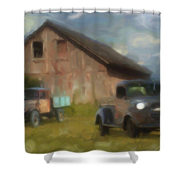 Farm Scene Shower Curtain by Jack Zulli