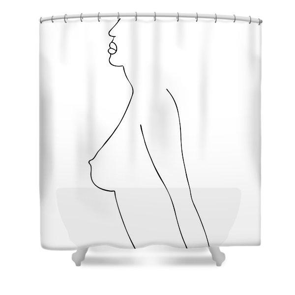 Fashion sketch Shower Curtain by Frank Tschakert