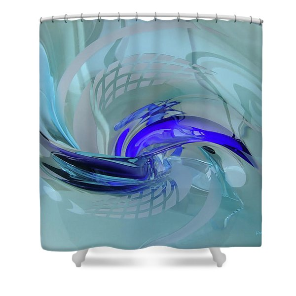 Feeling Tiffany Blue Shower Curtain by Donna Blackhall