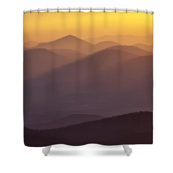 Filtered Light on the Blue Ridge Parkway Shower Curtain by Rob Travis