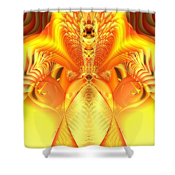 Fire Goddess Shower Curtain by Gina Lee Manley