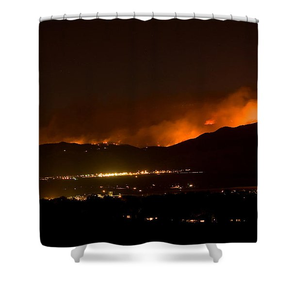 Fire In The Mountains No Lightning In The Air Shower Curtain by James BO  Insogna