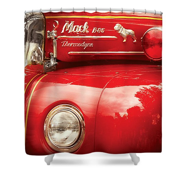 Fireman - An Old Fire Truck Shower Curtain by Mike Savad