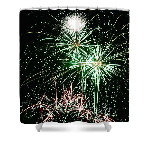 Fireworks 4 Shower Curtain by Michael Peychich