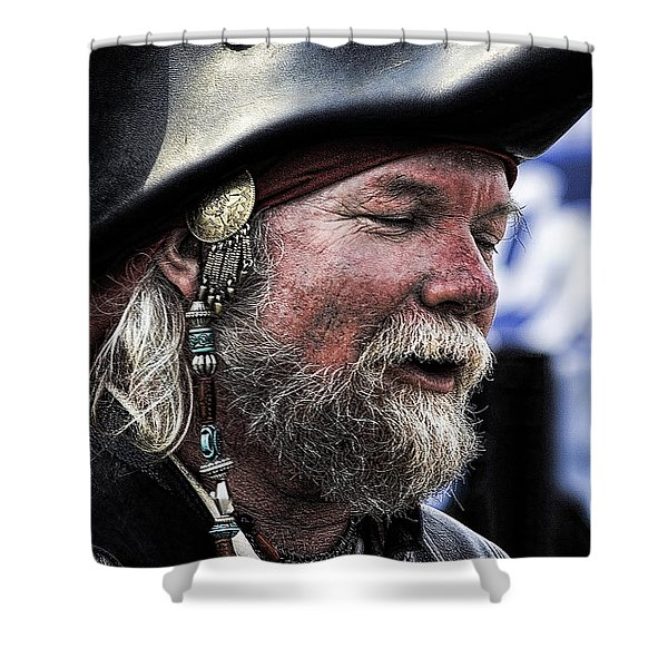 First Mate Shower Curtain by David Patterson