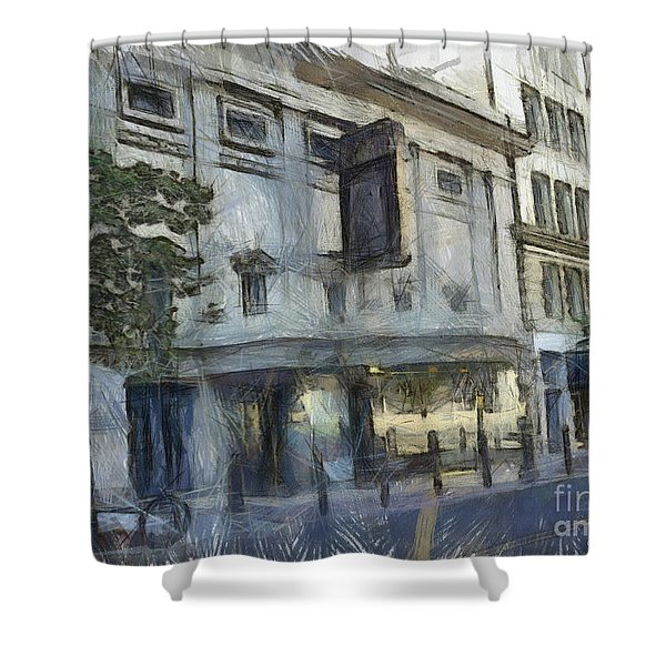 Fitzgerald Shower Curtain by Paulette B Wright