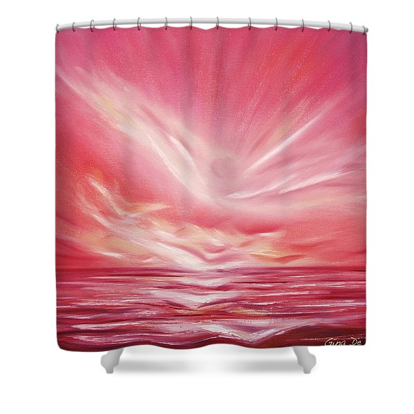 Shower Curtains - Flight at Sunset Shower Curtain by Gina De Gorna