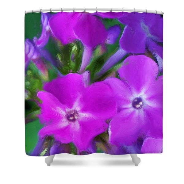 Floral Expression 2 021911 Shower Curtain by David Lane