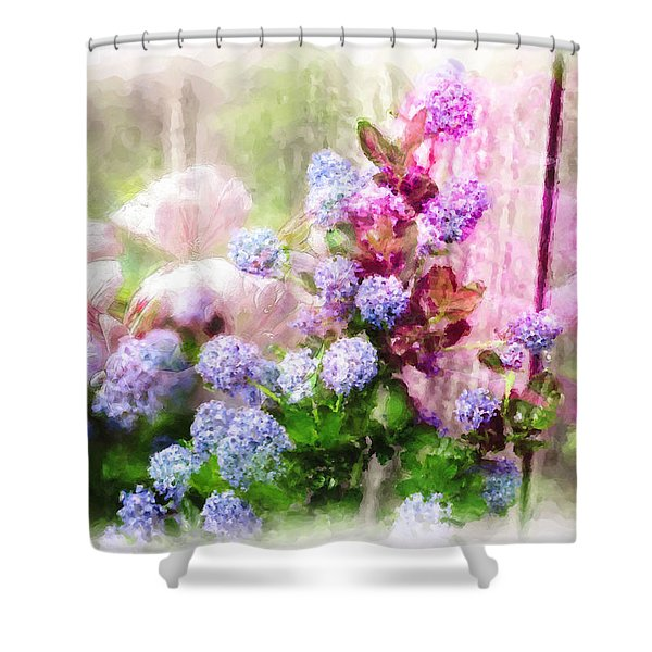 Floral Merge 11 Shower Curtain by Artzmakerz