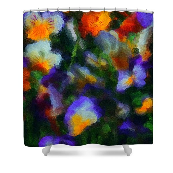Floral Study 053010A Shower Curtain by David Lane