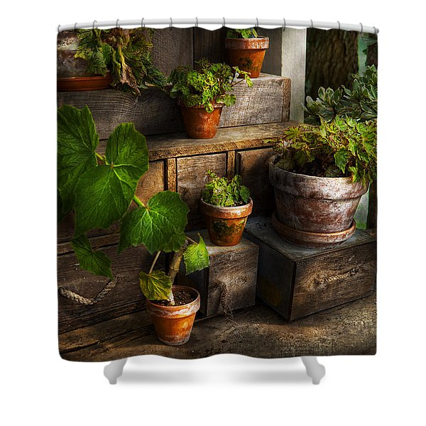 Flower - Plant - A Summers Soak Shower Curtain by Mike Savad
