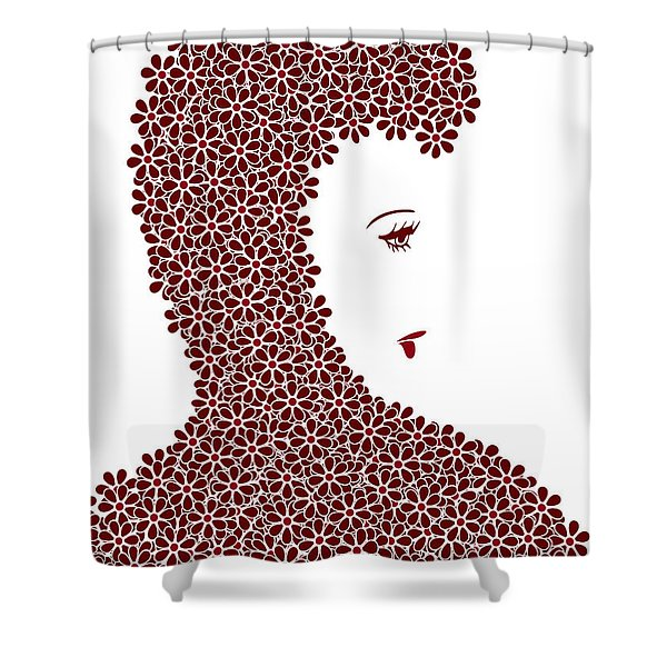 Flower Fashion Shower Curtain by Frank Tschakert