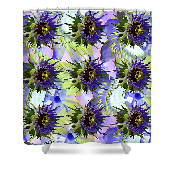 Flowers on the Wall Shower Curtain by Betsy C  Knapp