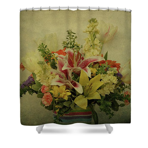 Flowers Shower Curtain by Sandy Keeton