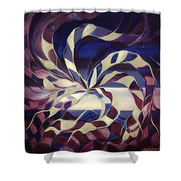 Shower Curtains - Focus -- Square Abstract Painting Shower Curtain by Gina De Gorna