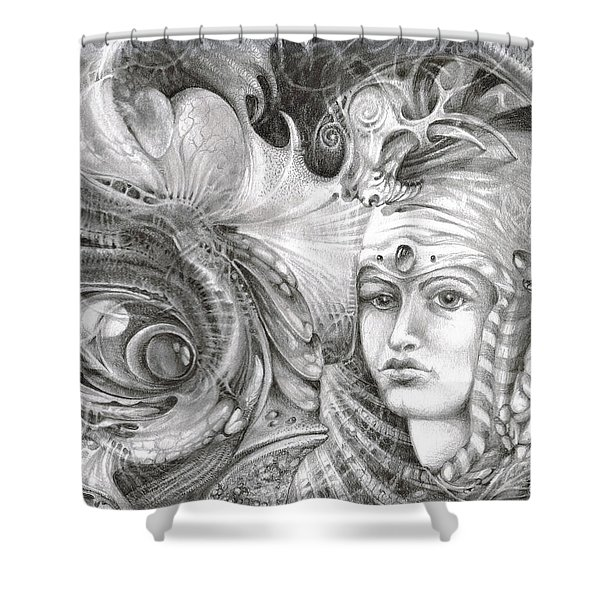 FOMORII KING AND QUEEN Shower Curtain by Otto Rapp