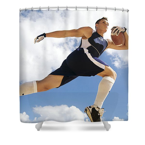 Football Athlete II Shower Curtain by Kicka Witte - Printscapes