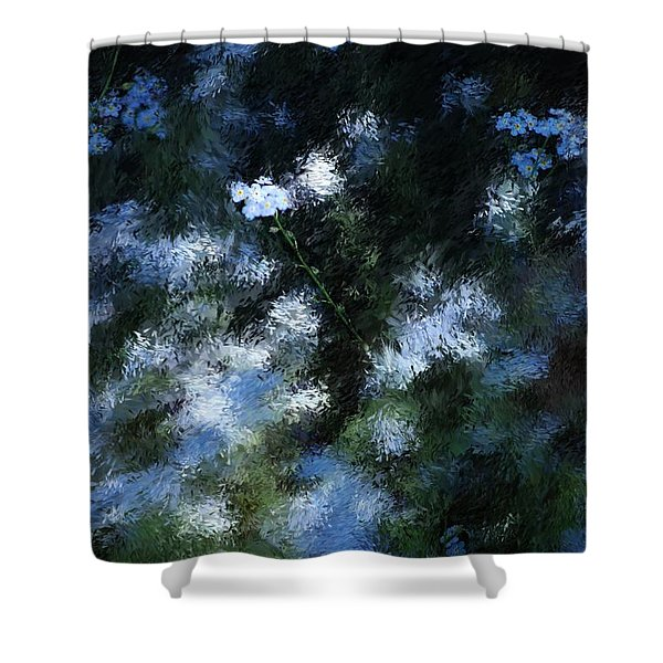FORGET Me Not Shower Curtain by David Lane