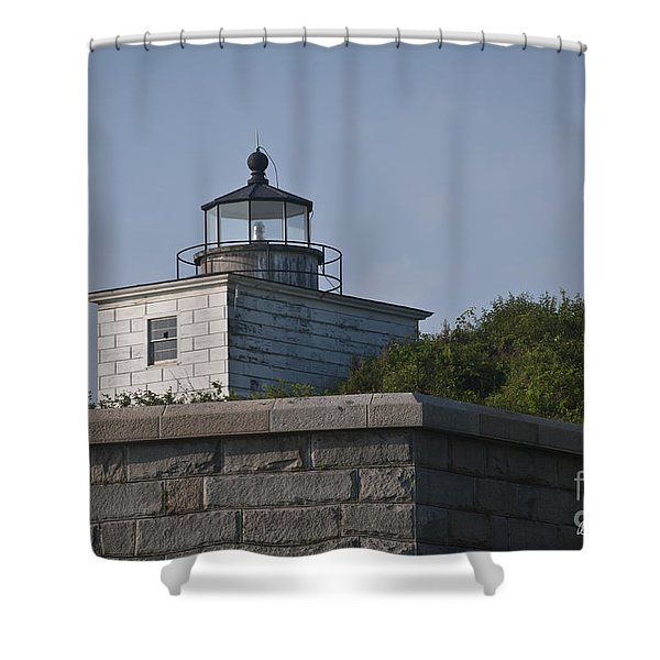 Fort Taber Lighthouse Shower Curtain by David Gordon