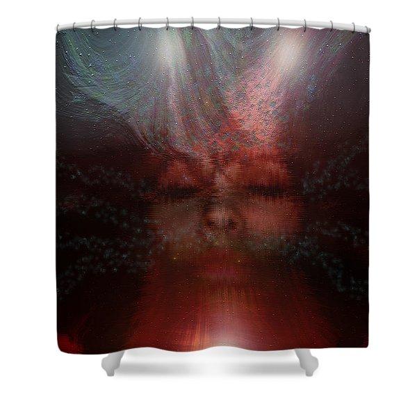 Fortune Teller Shower Curtain by Linda Sannuti
