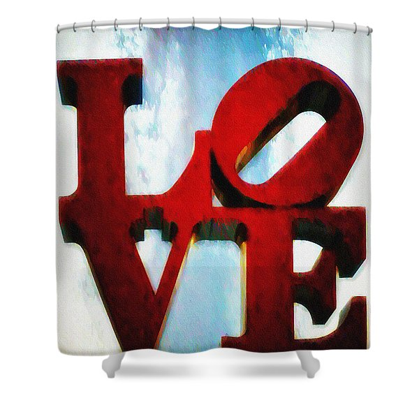 Fountain Of Love Shower Curtain by Bill Cannon