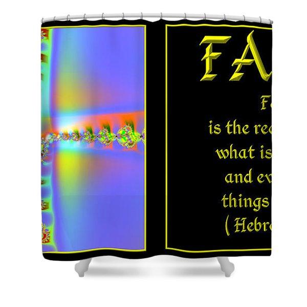 Fractal Faith Hebrews 11 Shower Curtain by Rose Santuci-Sofranko