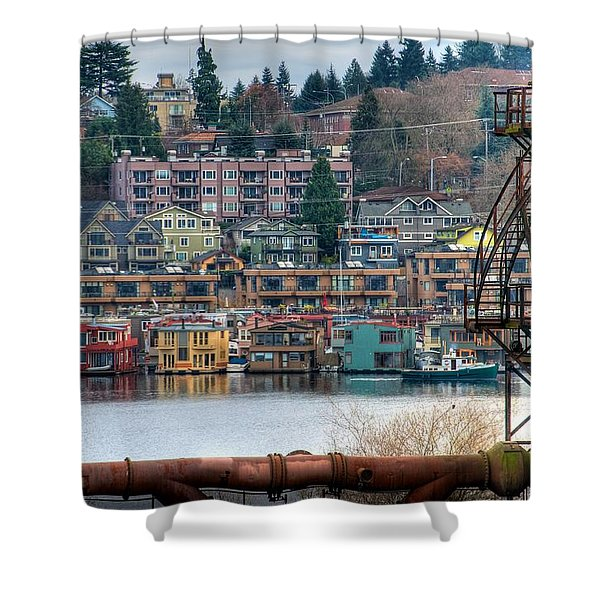 Framed in Seattle Shower Curtain by Spencer McDonald