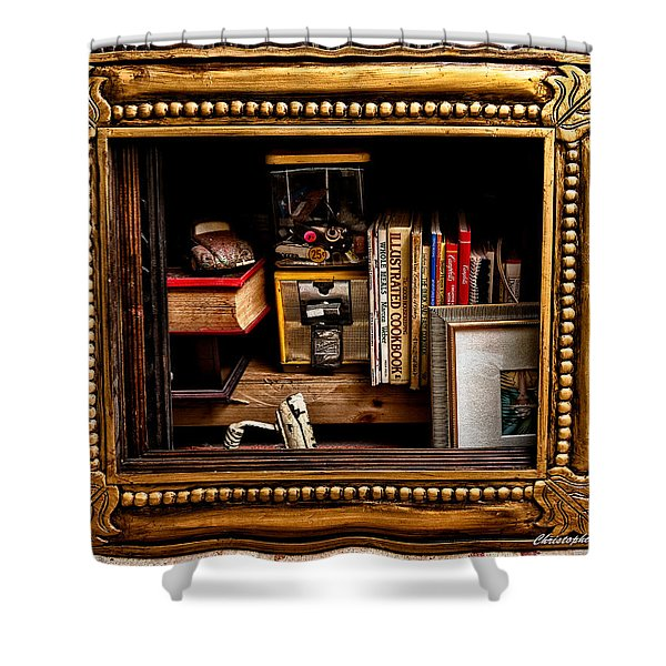 Framed Odds And Ends Shower Curtain by Christopher Holmes
