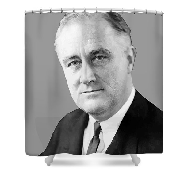 Franklin Delano Roosevelt Shower Curtain by War Is Hell Store