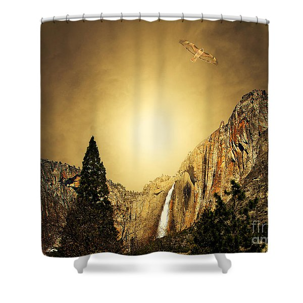 Free To Soar The Boundless Sky Shower Curtain by Wingsdomain Art and Photography