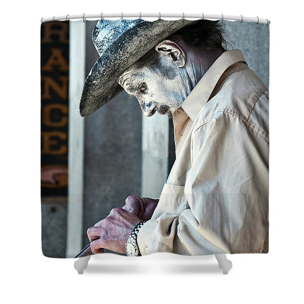 French Quarter Cowboy Mime Shower Curtain by Kathleen K Parker