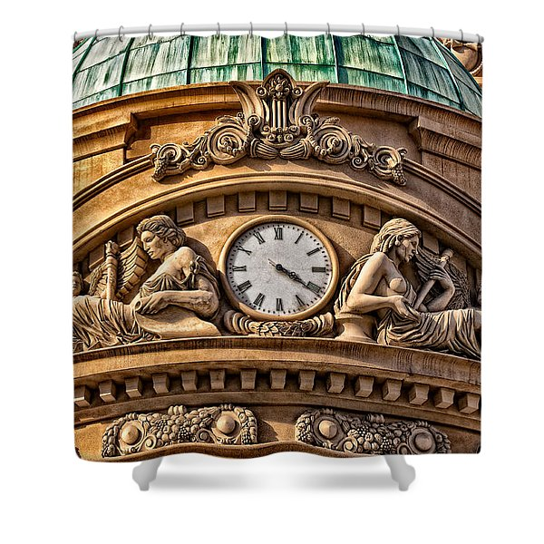 French Time Shower Curtain by Christopher Holmes