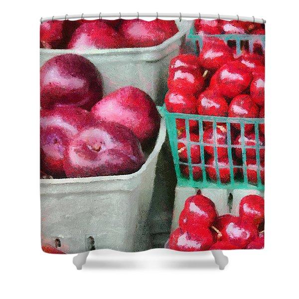 Fresh Market Fruit Shower Curtain by Jeff Kolker