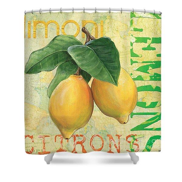 Froyo Lemon Shower Curtain by Debbie DeWitt