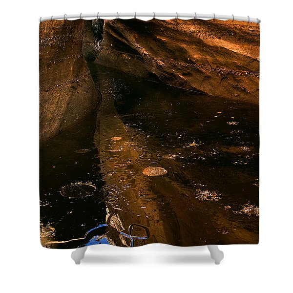 Frozen Slot Shower Curtain by Mike  Dawson
