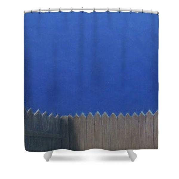 Full Moon Shower Curtain by James W Johnson