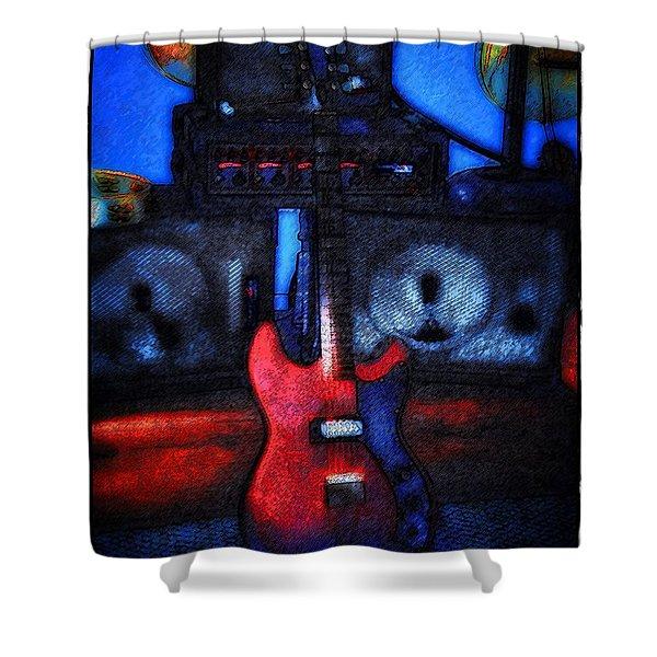 Garage Rock Shower Curtain by Bill Cannon