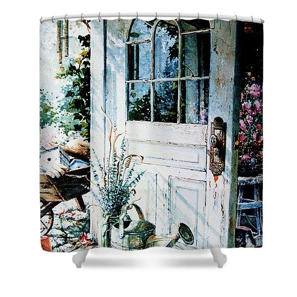 Garden Chores Shower Curtain by Hanne Lore Koehler