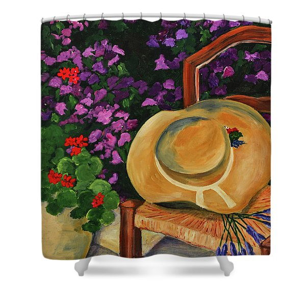 Garden scene Shower Curtain by Elise Palmigiani