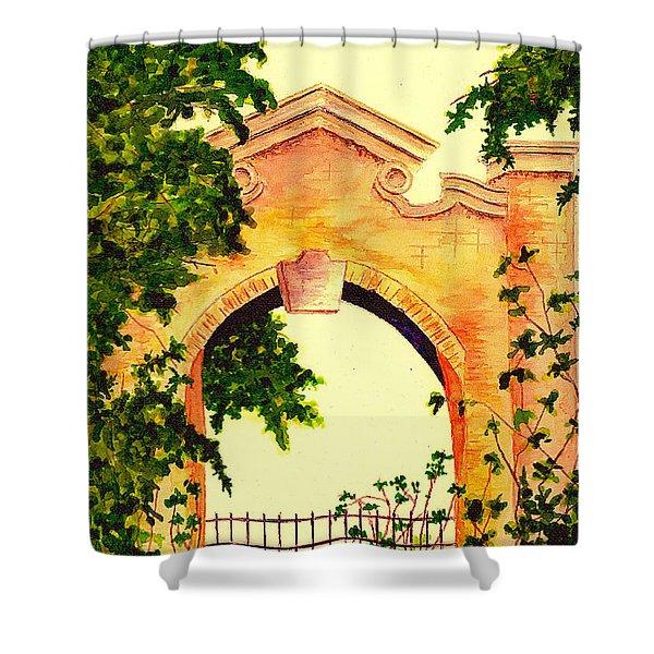 Garden Scene Shower Curtain by Michael Vigliotti