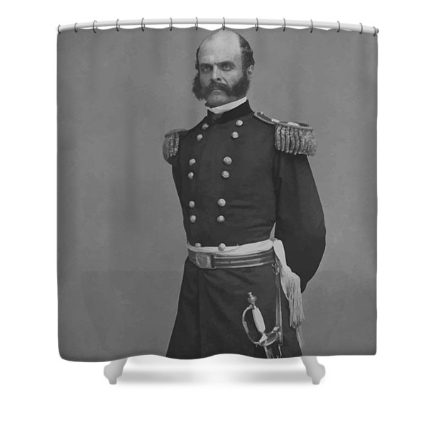 General Ambrose Everett Burnside Shower Curtain by War Is Hell Store