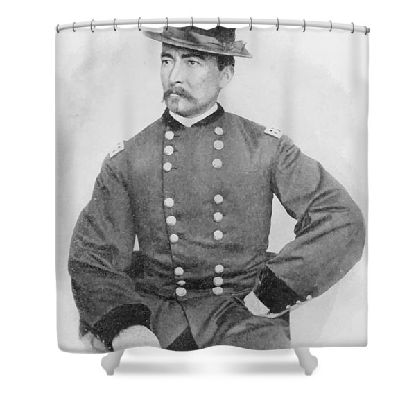 General Sheridan Civil War Portrait Shower Curtain by War Is Hell Store