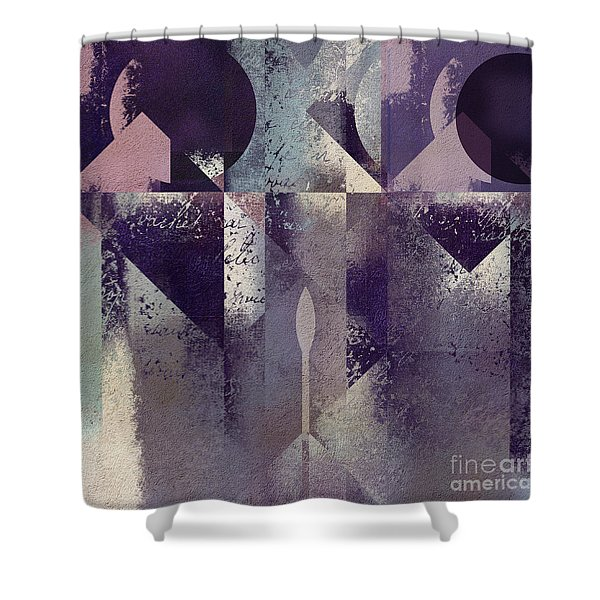 Geomix-04 - c57at22b2e Shower Curtain by Variance Collections