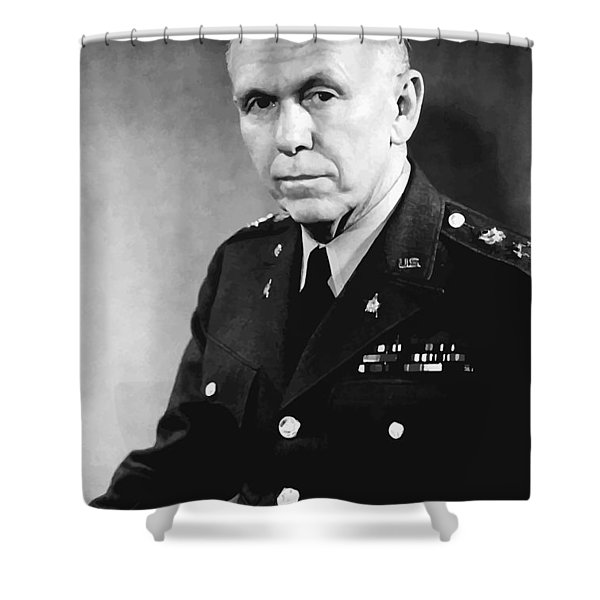 George Marshall Shower Curtain by War Is Hell Store