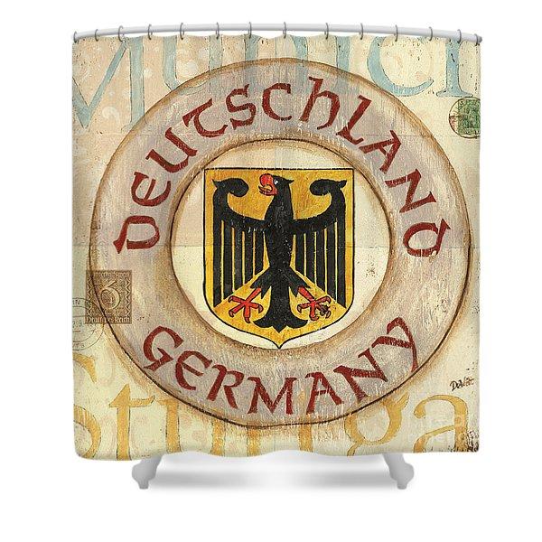 German Coat of Arms Shower Curtain by Debbie DeWitt