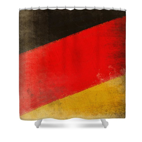 German flag Shower Curtain by Setsiri Silapasuwanchai