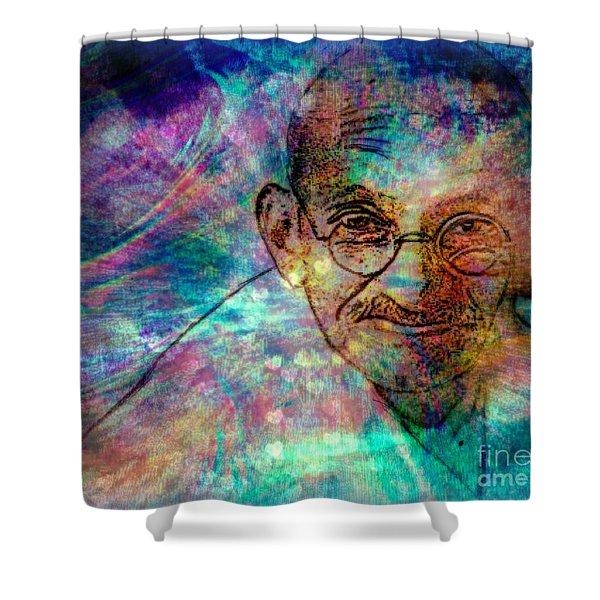 Ghandi Shower Curtain by WBK