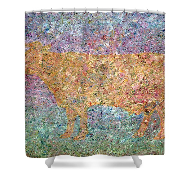 Ghost of a Cow Shower Curtain by James W Johnson