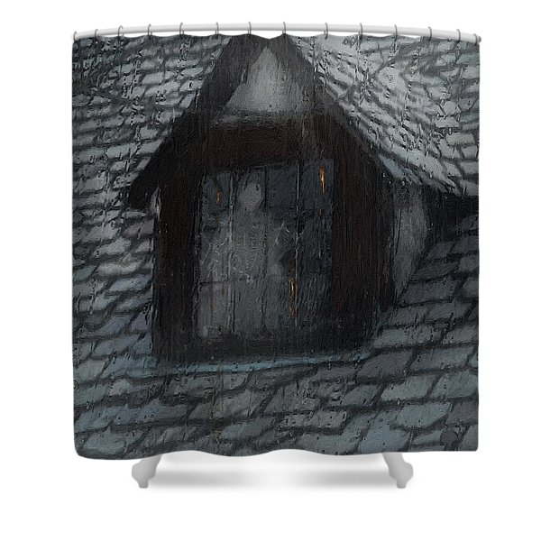 Ghost Rain Shower Curtain by RC DeWinter