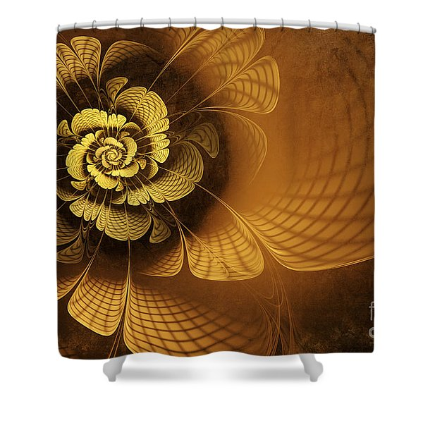 Gilded Flower Shower Curtain by John Edwards